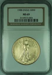1988 $50 1 Oz American  Eagle AGE  NGC