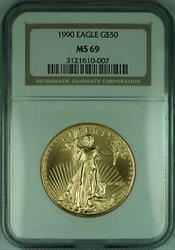 1990 $50 1 Oz American  Eagle AGE  NGC