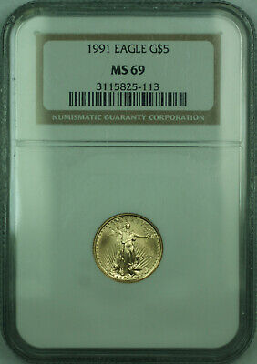 1991 $5 1/10th Oz American  Eagle AGE  NGC