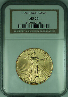 1991 $50 1 Oz American  Eagle AGE  NGC