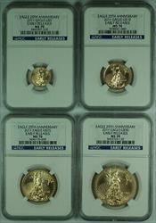 2011 25th Anniversary American  Eagle 4  Set NGC *Early Release*