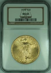 1924 Gaudens $20 Double Eagle   NGC Gem BU