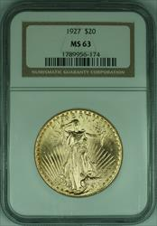 1927 Gaudens $20 Double Eagle   NGC (F)