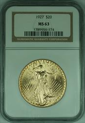 1927 Gaudens $20 Double Eagle   NGC (F)