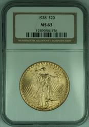 1928 Gaudens $20 Double Eagle   NGC (A)