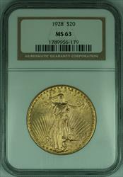 1928 Gaudens $20 Double Eagle   NGC (B)