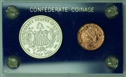 1861 Confederate US Half Dollar Cent BASHLOW Restrikes Token Coin Set (GH)