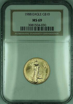 1988 $10 1/4 Oz American  Eagle AGE  NGC (KD)