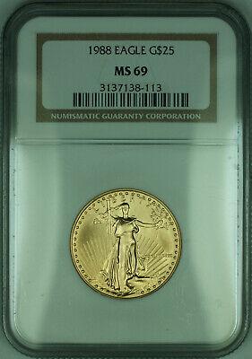 1988 $25 1/2 Oz American  Eagle AGE  NGC (KD)