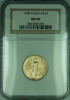 1989 $10 1/4 Oz American  Eagle AGE  NGC (KD)
