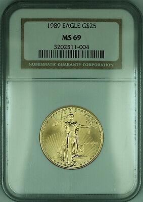 1989 $25 1/2 Oz American  Eagle AGE  NGC (KD)