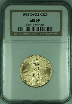 1991 $25 1/2 Oz American  Eagle AGE  NGC (KD)