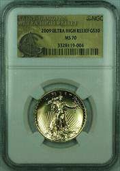 2009 St Gaudens Ultra High Relief Double Eagle $20 1 Oz   NGC (KD)