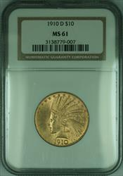1910 D Indian Eagle $10   NGC (KD)