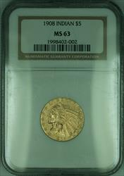 1908 Indian Half Eagle $5   NGC (KD)