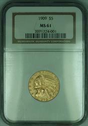 1909 Indian Half Eagle $5   NGC (KD)