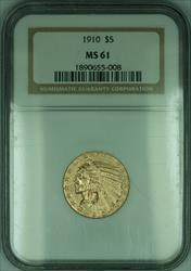 1910 Indian Half Eagle $5   NGC (KD)