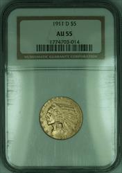 1911 D Indian Half Eagle $5   NGC (KD)