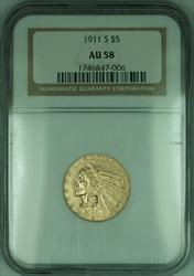 1911 S Indian Half Eagle $5   NGC (KD)