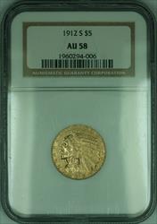 1912 S Indian Half Eagle $5   NGC (KD)