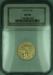 1913 S Indian Half Eagle $5   NGC (KD)