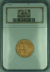 1916 S Indian Half Eagle $5   NGC (KD)