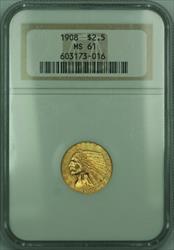 1908 Indian Quarter Eagle $2.50   NGC Better  (KD)