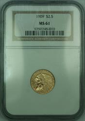 1909 Indian Quarter Eagle $2.50   NGC (KD)