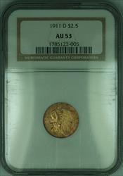 1911 D Indian Quarter Eagle $2.50   NGC (KD)
