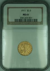 1911 Indian Quarter Eagle $2.50   NGC (KD)