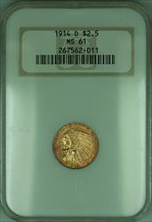 1914 D Indian Quarter Eagle $2.50   NGC (KD)