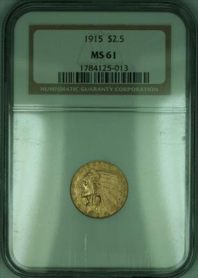 1915 Indian Quarter Eagle $2.50   NGC (KD)