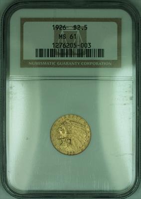 1926 Indian Quarter Eagle $2.50   NGC (KD)