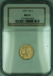 1927 Indian Quarter Eagle $2.50   NGC (KD)