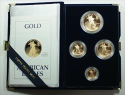 1989 American Eagle  Proof 4  Set AGE in Box w/ COA