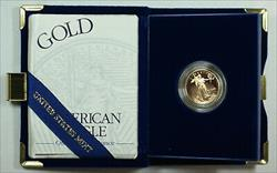 1998 W Proof 1/4 Oz American  Eagle $10  w/ Box & COA