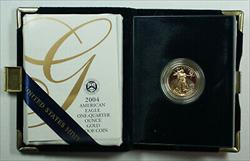 2004 W Proof 1/4 Oz American  Eagle $10  w/ Box & COA