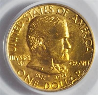 1922 Grant No Star G$1 -- PCGS MS65