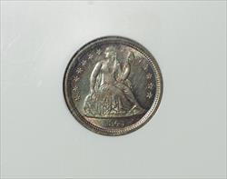 1841 Seated Dime -- NGC MS65