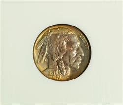 1921-S Buffalo Nickel -- NGC MS66