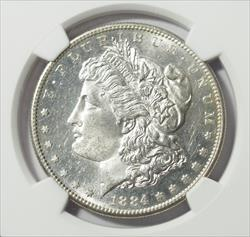 1884-S Morgan Dollar -- NGC MS62+