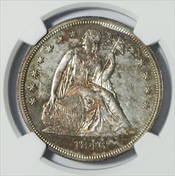 1846 Seated Liberty Dollar, No Motto -- NGC MS62