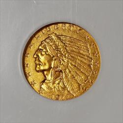 1911 D $2.5 Indian -- NGC AU58