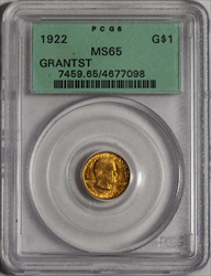 1922 Grant With Star G$1 -- PCGS MS65