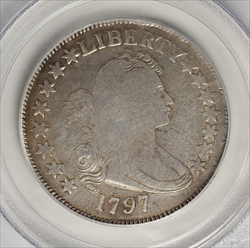 1797 Draped Bust Half Dollar Small Eagle -- PCGS F12