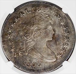 1795 Centered Draped Bust Dollar, BB-52, B-15 -- NGC UNC Details, CLEANED