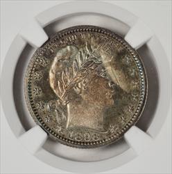 1898 Barber Quarter -- NGC PF67