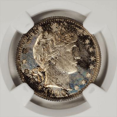 1900 Barber Quarter -- NGC PF67