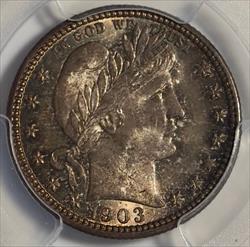 1903-O Barber Quarter -- PCGS MS66