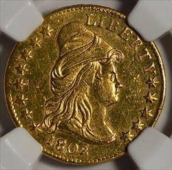 1802 $2.5 Capped Bust Right -- NGC MS61